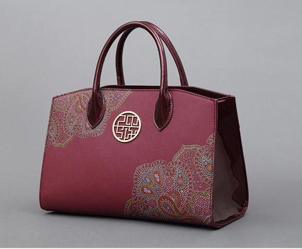 Su embroidery personalized handbag