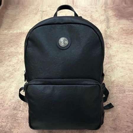 leather backpack black mens